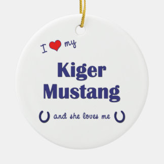 I Love My Kiger Mustang (Female Horse) Christmas Ornament