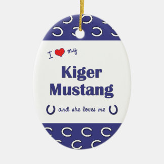 I Love My Kiger Mustang (Female Horse) Ornament