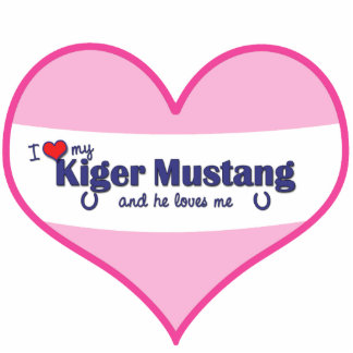 I Love My Kiger Mustang (Male Horse) Photo Statuette