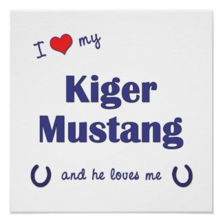 I Love My Kiger Mustang (Male Horse) Posters