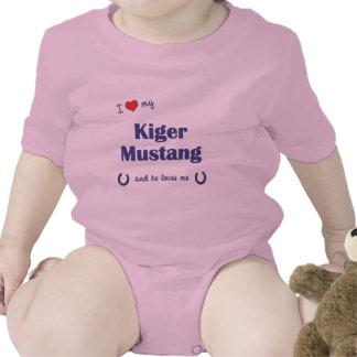I Love My Kiger Mustang (Male Horse) Tee Shirt