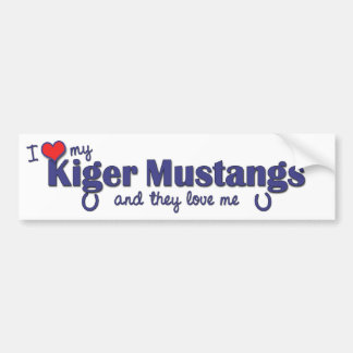 I Love My Kiger Mustangs (Multiple Horses) Car Bumper Sticker