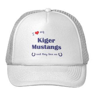 I Love My Kiger Mustangs Multiple Horses Hat