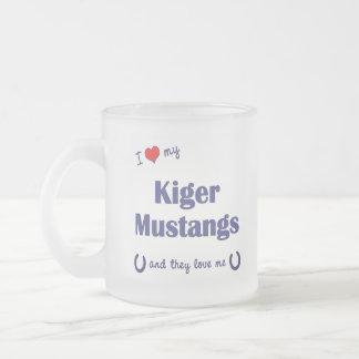 I Love My Kiger Mustangs Multiple Horses Mug