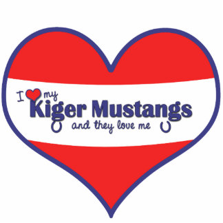 I Love My Kiger Mustangs (Multiple Horses) Photo Statuette
