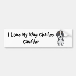I Love My King Charles Cavalier Bumper Sticker