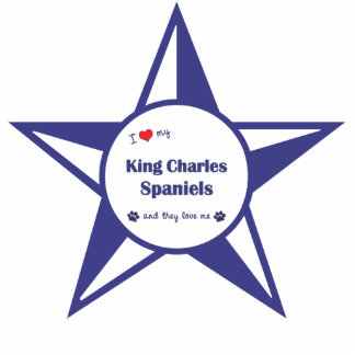 I Love My King Charles Spaniels (Multiple Dogs) Photo Sculpture Ornament