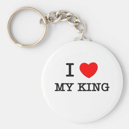 I Love My King Key Chains