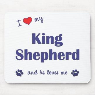 I Love My King Shepherd (Male Dog) Mouse Pad
