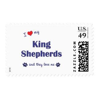 I Love My King Shepherds (Multiple Dogs) Postage