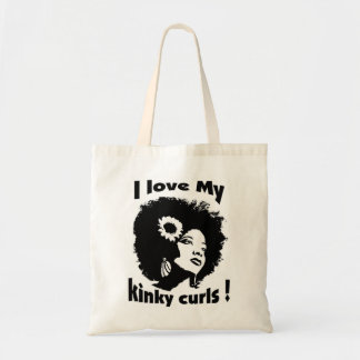 I love  My Kinky Curls! Tote Bag
