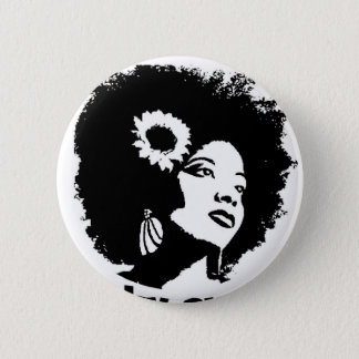 I love my Kinky Curly Hair Pinback Button