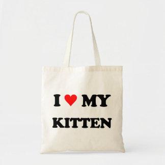 I Love My Kitten Budget Tote Bag