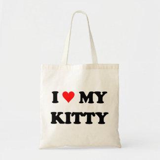 I Love My Kitty Budget Tote Bag