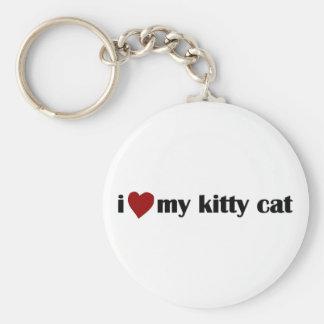 I Love My Kitty Cat Keychain