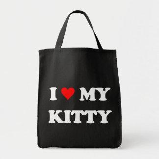 I Love My Kitty Grocery Tote Bag
