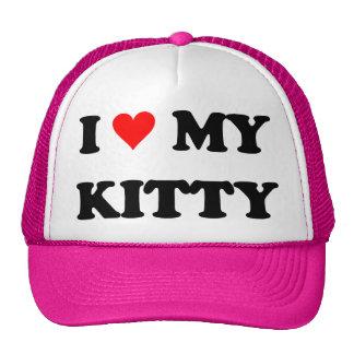 I Love My Kitty Mesh Hat