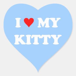 I Love My Kitty Heart Sticker
