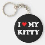 I Love My Kitty Keychain