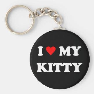 I Love My Kitty Key Chain