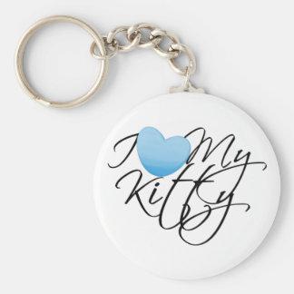 I Love My Kitty Key Chains