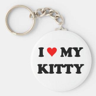 I Love My Kitty Keychains