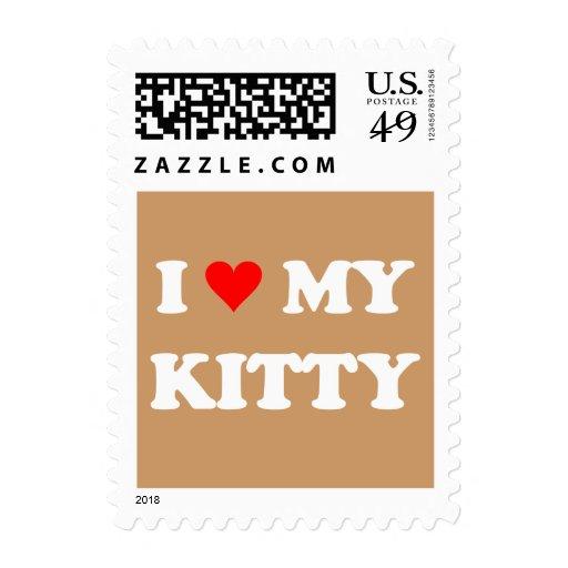 I Love My Kitty Postage Stamp