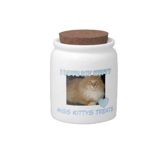 I Love My Kitty Treat Jar Candy Jars