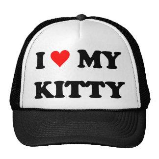 I Love My Kitty Trucker Hat