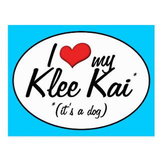I Love My Klee Kai (It's a Dog) Postcard