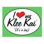 I Love My Klee Kai (It's a Dog) Postcards