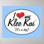 I Love My Klee Kai (It's a Dog) Print