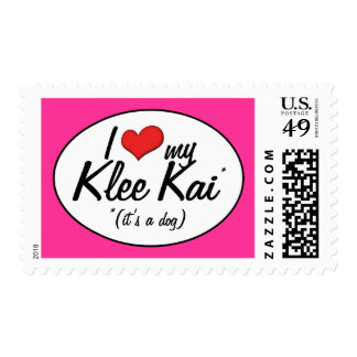 I Love My Klee Kai (It's a Dog) Stamp