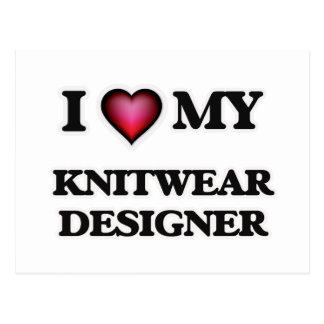 I love my Knitwear Designer Postcard