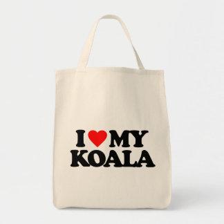 I LOVE MY KOALA CANVAS BAG