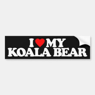 I LOVE MY KOALA BEAR BUMPER STICKER