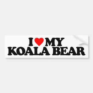 I LOVE MY KOALA BEAR CAR BUMPER STICKER