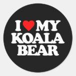 I LOVE MY KOALA BEAR CLASSIC ROUND STICKER