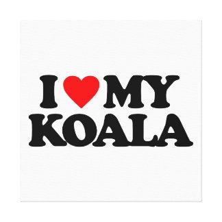 I LOVE MY KOALA STRETCHED CANVAS PRINT