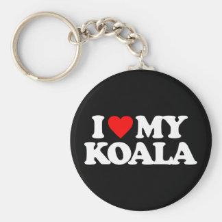 I LOVE MY KOALA KEYCHAIN