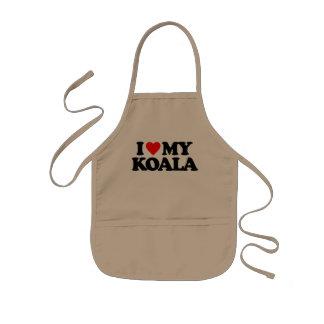 I LOVE MY KOALA KIDS' APRON