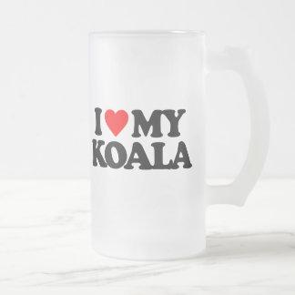 I LOVE MY KOALA BEER MUG