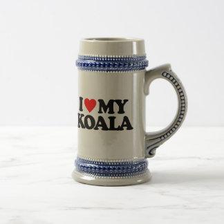 I LOVE MY KOALA 18 OZ BEER STEIN