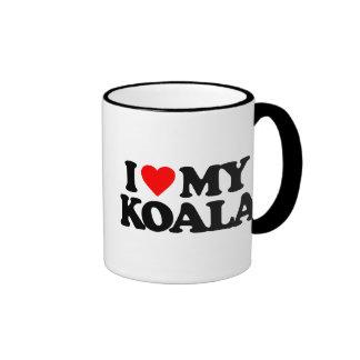 I LOVE MY KOALA RINGER COFFEE MUG