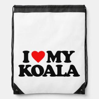 I LOVE MY KOALA CINCH BAG