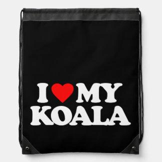 I LOVE MY KOALA DRAWSTRING BAG