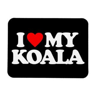 I LOVE MY KOALA RECTANGULAR PHOTO MAGNET