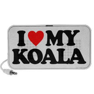 I LOVE MY KOALA LAPTOP SPEAKERS