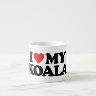 I LOVE MY KOALA 6 OZ CERAMIC ESPRESSO CUP