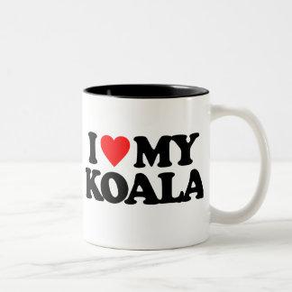 I LOVE MY KOALA Two-Tone COFFEE MUG